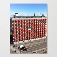 copenhagen Canvas Prints featuring COPENHAGEN by T◎BBER