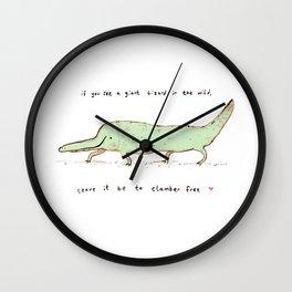 Wild Lizard Wall Clock