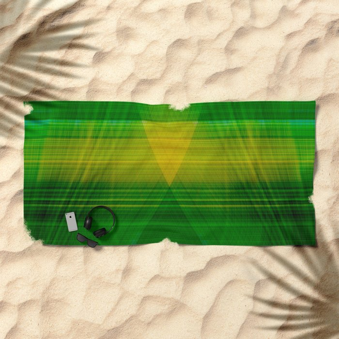 green hope Beach Towel