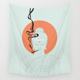 Buddha : Give Peace a Chance! Wall Tapestry