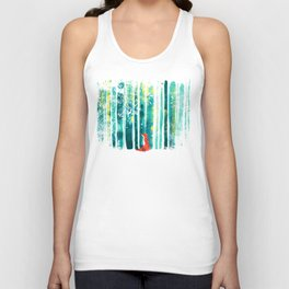 Fox in quiet forest Unisex Tank Top