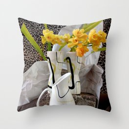 Animal, Vegetable, And Mineral Throw Pillow