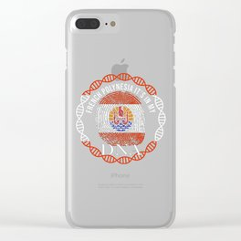 French Polynesia Its In My DNA Clear iPhone Case