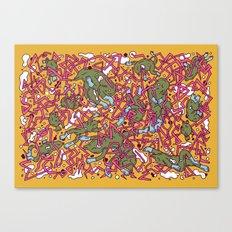 Lizard network 2 Canvas Print