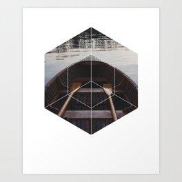 Peace of Mind Boat - Geometric Photography Art Print