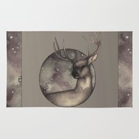 antlers Area & Throw Rugs featuring Antlers by Ericaphant
