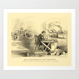 The Progress of the Century (Currier & Ives) Art Print