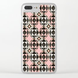 Geodesic Optic Roses Clear iPhone Case