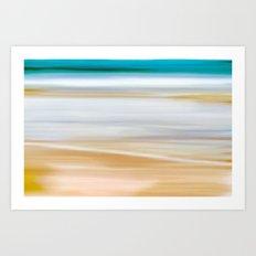 Abstract Beachscape Art Print
