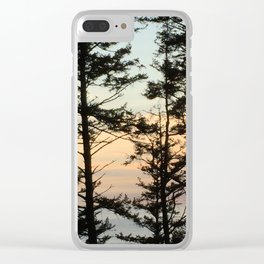 Ecola Sunset Clear iPhone Case