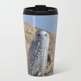Snowy Owl with a strange look Travel Mug