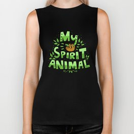 My Spirit Animal | Sloth Lazy Biker Tank