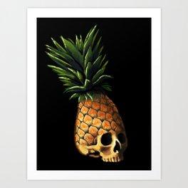 Pineapple Skull Art Print