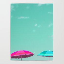 Pastel Beach Sky Poster