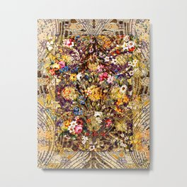 Persian Floral Pattern II Metal Print