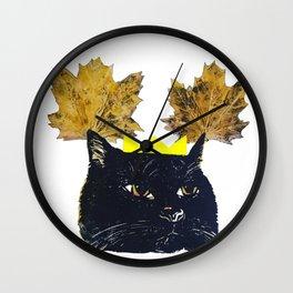 KITTY AUTUMN GODDESS YO Wall Clock