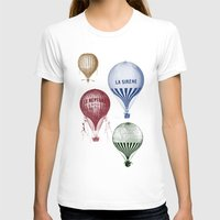 hot air balloons T-shirts featuring Colorful Hot Air Balloons by Zen and Chic