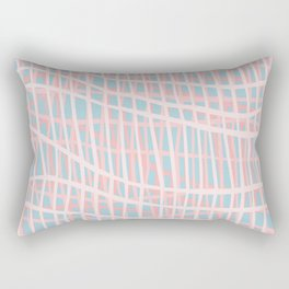 Net Blush Blue Rectangular Pillow