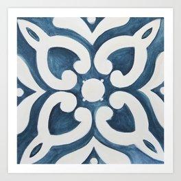 Mediterranean Tile I Art Print