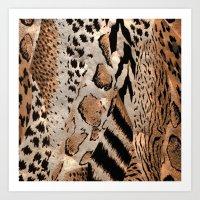 safari Art Prints featuring Safari by Colorful Art