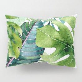 Tropical Jungle Leaves Pillow Sham