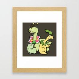Pokémon - Number 152, 153 & 154 Framed Art Print