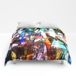 Light Streaming Through Stained Glass Comforters
