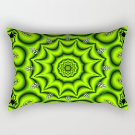 Spring Garden Mandala, Abstract Star Burst Delightful Spirals Rectangular Pillow