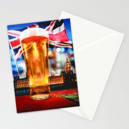 English Beer In A London Pub Stationery Cards