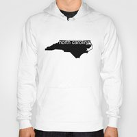 north carolina Hoodies featuring North Carolina by Isabel Moreno-Garcia