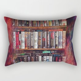 Stephen King Books on Shelves Rectangular Pillow
