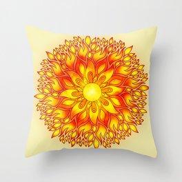 Fire Element Mandala Throw Pillow