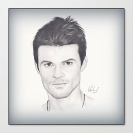 Daniel Gillies Drawing Canvas Print