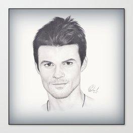 Daniel Gillies Drawing Canvas Print