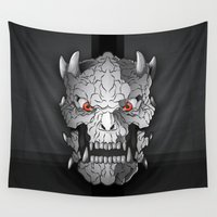 demon Wall Tapestries featuring Demon by Luca Giobbe