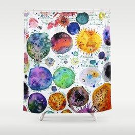 Mini Planets Shower Curtain