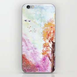 Magical Landscape Watercolor Painting iPhone Skin