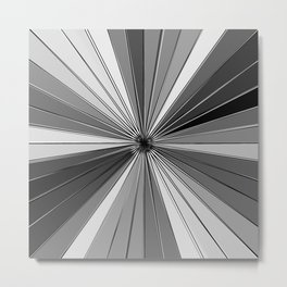 Color Burst IV (Black and White // Gray Scale) Metal Print