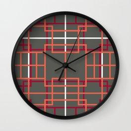 Asian Lattice Design Wall Clock