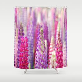 Pink & Purple FLowerS Shower Curtain