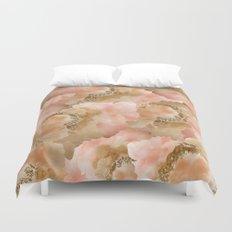 Gold in the clouds Duvet Cover