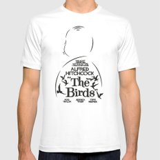 The Birds - Alfred Hitchcock Movie Poster Mens Fitted Tee MEDIUM White