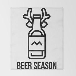 Beer Season Throw Blanket