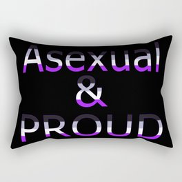 Asexual and Proud (black bg) Rectangular Pillow