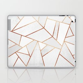 White Stone & Copper Lines Laptop & iPad Skin