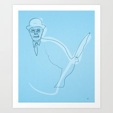 One line Magritte Art Print