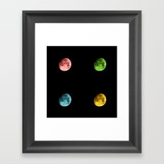 SuperMoon and her Lunatic Friends Framed Art Print