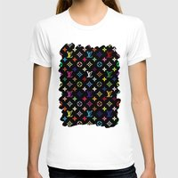 lv T-shirts featuring COLORFULL LV PATTERN LOGO by BeautyArtGalery