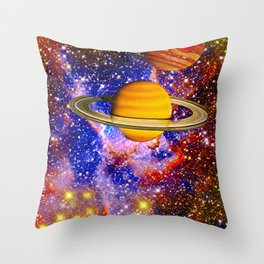 Stars and Planets Throw Pillow
