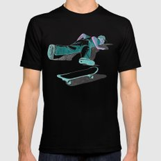 skateboarding (lost time, risograph version) Mens Fitted Tee LARGE Black